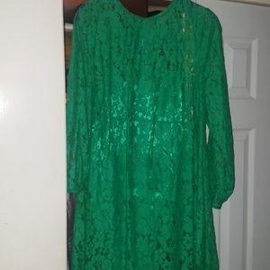 Asos size 8 green lace maternity dress